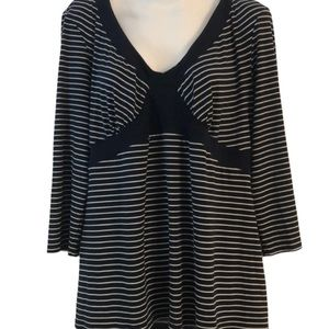 Two Hearts Maternity women's striped pullover XL